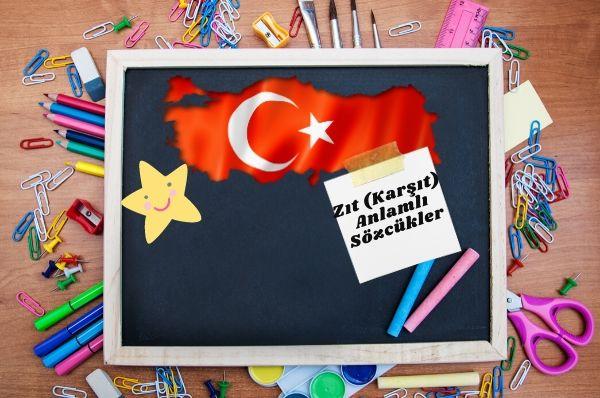 1.Sınıf Türkçe Zıt (Karşıt) Anlamlı Sözcükler Testi