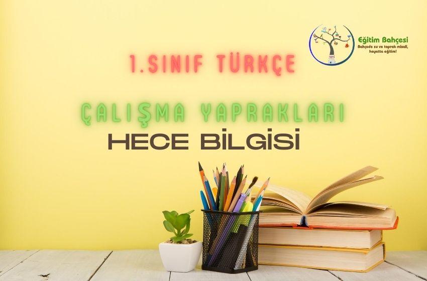1.Sınıf Türkçe Hece Bilgisi Çalışma Yaprakları