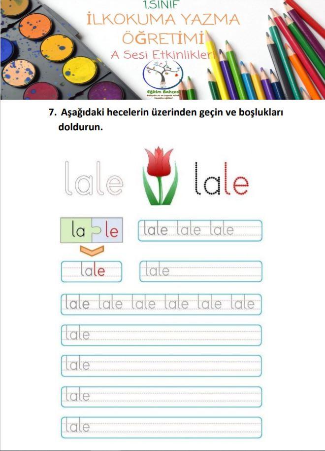 A Sesi Etkinlikleri Örnek Sayfa