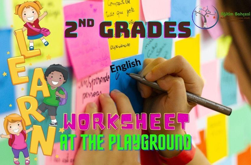 2.Sınıf İngilizce At The Playground Çalışma Kağıtları