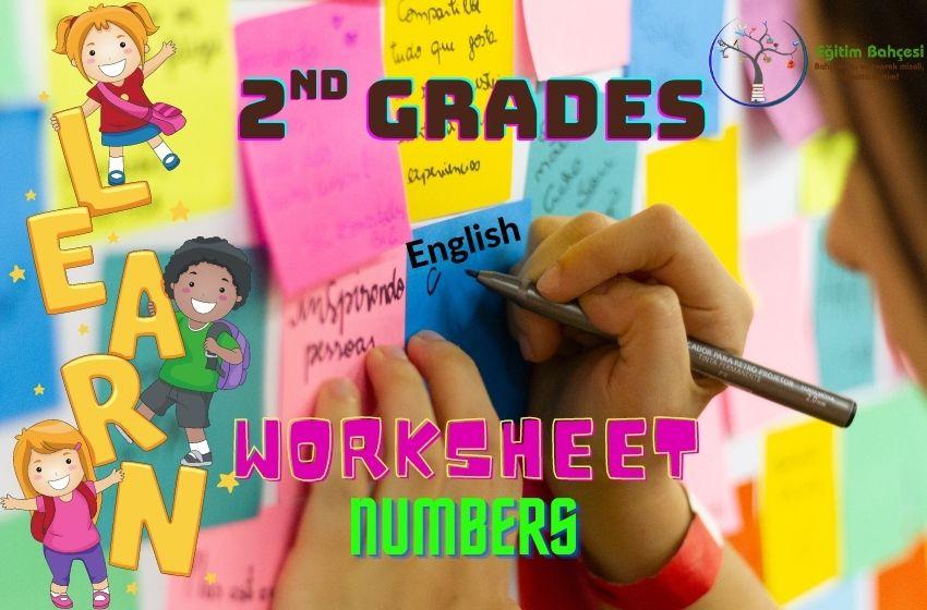 2.Sınıf İngilizce Numbers Çalışma Kağıtları