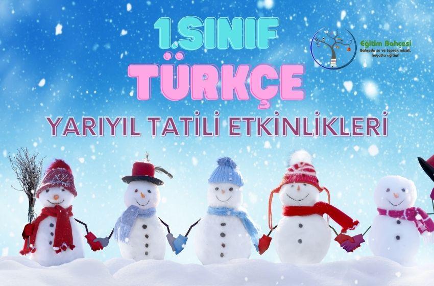 1.Sınıf Türkçe Yarıyıl Tatili Etkinlikleri