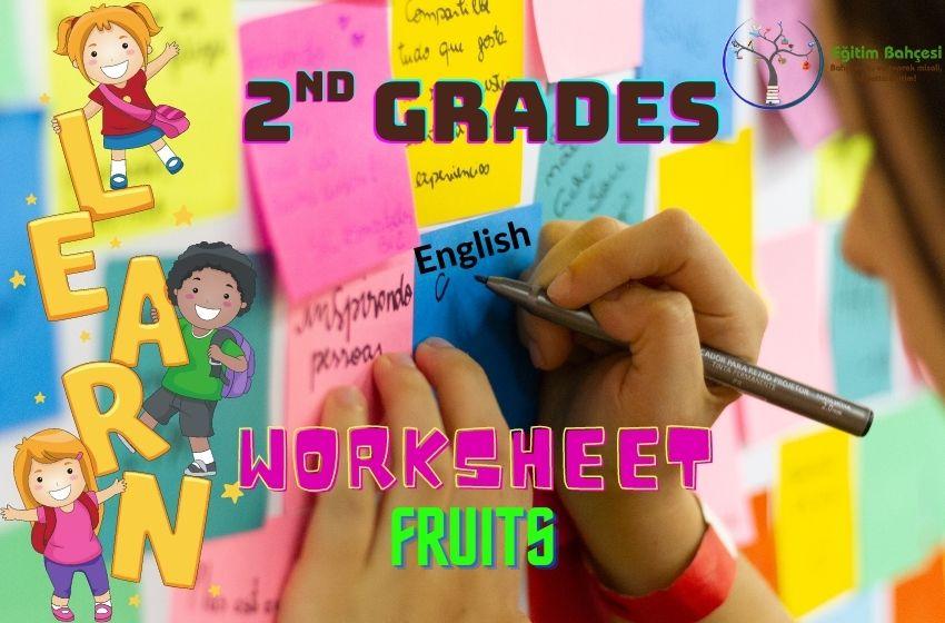 2.Sınıf İngilizce Fruits Çalışma Kağıtları