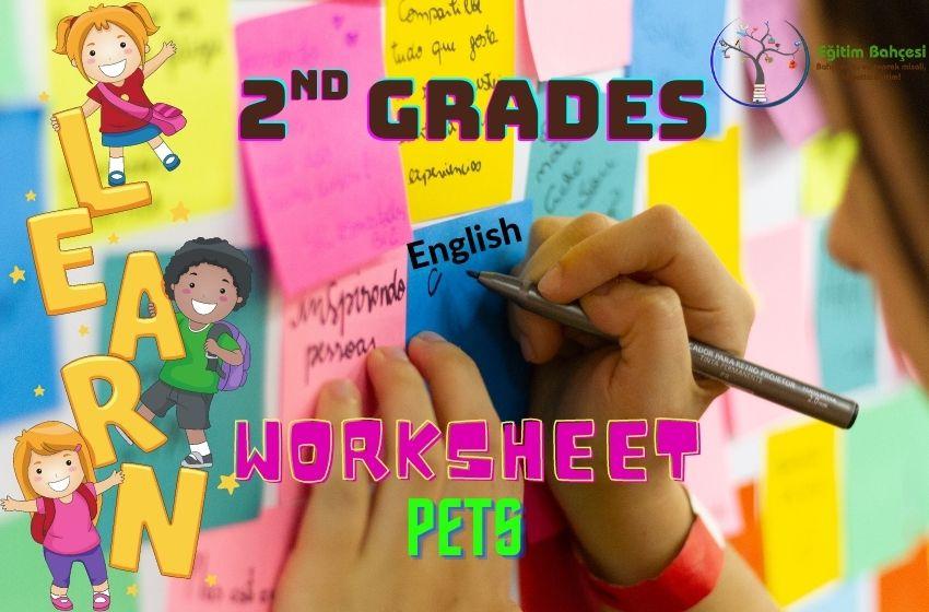2.Sınıf İngilizce Pets Çalışma Kağıtları