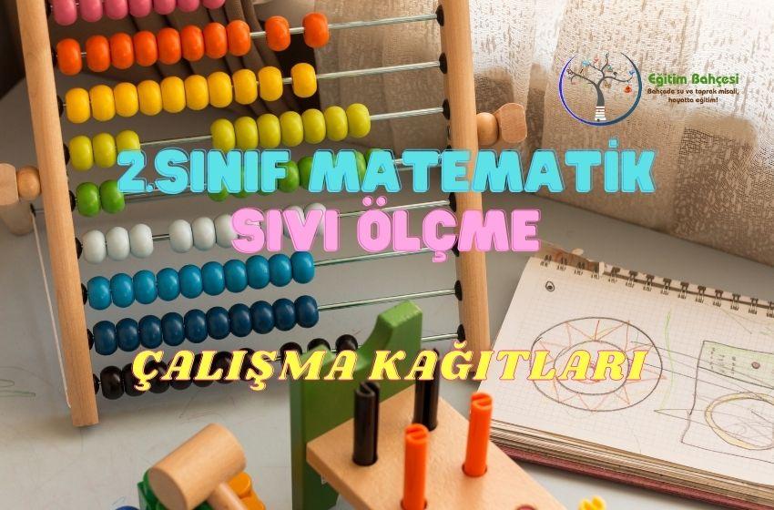 2.Sınıf Matematik Sıvı Ölçme Çalışma Kağıtları